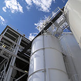 hess perlite expansion plant and storage tanks